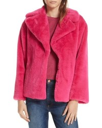 Alice + Olivia Thora Faux Fur Coat