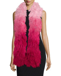Charlotte simone shaggy fur gradient stole medium 381734