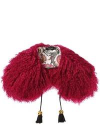 Mongolian goat fur scarf collar medium 3748467