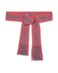 Pippa Holt Fringed Cotton Jacquard Waist Belt