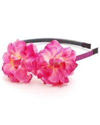 Reflectionz Girls Pink Sparkle Jeweled Flower Headband Hair Accessory