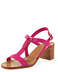 Hot Pink Heeled Sandals