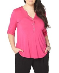 Evans Plus Size Henley Top