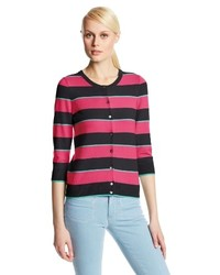 Colour works stripe cardigan sweater medium 159531