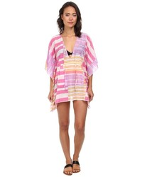 Hot Pink Horizontal Striped Cover-up