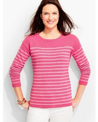 Bubble textured sweater colorblocked stripes medium 3650270
