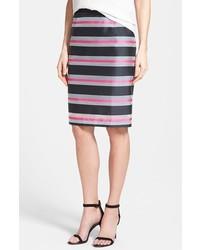 Organza stripe pencil skirt medium 175672