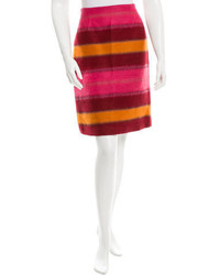 Striped knee length skirt medium 1252320