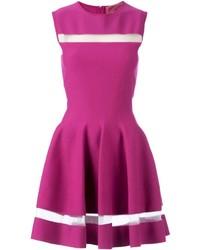 Giambattista valli sheer stripes flared dress medium 227272