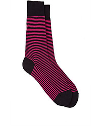 Barneys New York Striped Mid Calf Socks