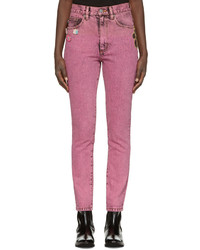 Pink flood stovepipe jeans medium 952699