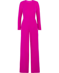 Adam lippes chiffon paneled silk crepe jumpsuit fuchsia medium 5219962