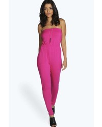 29174026d7 Boohoo Charlie Criss Cross Front Jumpsuit Out of stock · Boohoo Bella Basic  Bandeau Jumpsuit