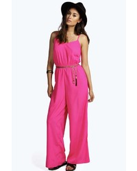 7abe911a4f Boohoo Sophie Solid Colour Wrap Front Self Belt Jumpsuit Out of stock ·  Boohoo Lauren Strappy Cami Style Wide Leg Jumpsuit