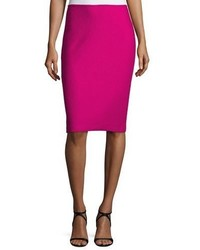 St. John Collection Honeycomb Knit Pencil Skirt Orchid