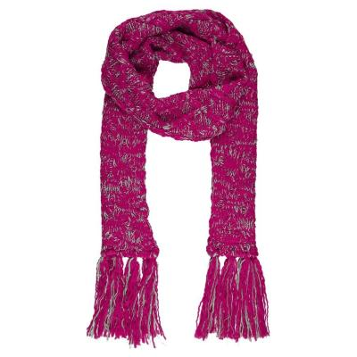 how to wear a hot pink scarf