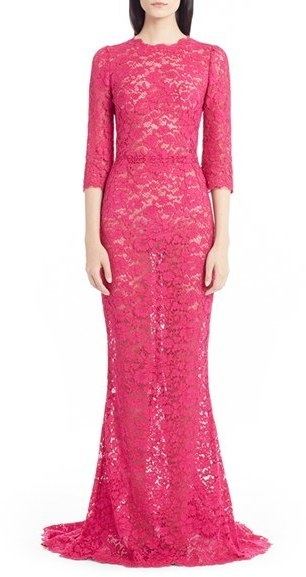 Dolce & Gabbana Dolcegabbana Open Back Lace Gown   Where to buy ...