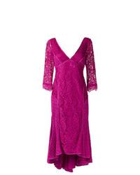 Martha Medeiros V Neck Lace Dress