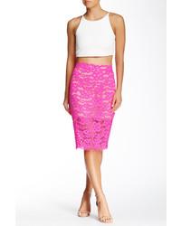 Trina Turk Bretta Lace Pencil Skirt