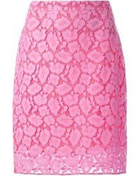 Moschino Boutique Floral Lace Skirt