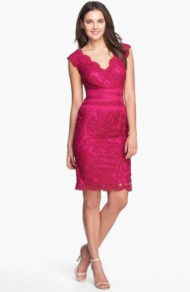 ... Tadashi Shoji Embroidered Lace Sheath Dress ...