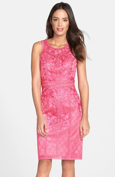 Sue Wong Sleeveless Embroidered Tulle Dress  Where to buy & how ...
