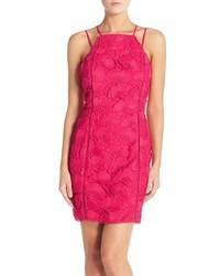 Greylin Yasmine Lace Halter Sheath Dress