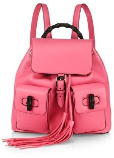 1529b09d3a636b Gucci Bamboo Sac Leather Backpack, $2,590 | Saks Fifth Avenue ...