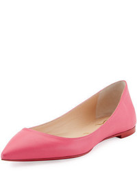 Ballalla smooth leather red sole ballerina flat medium 3729517