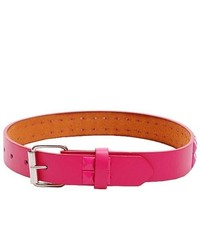 867a81eb7c82 ... Berry Sexy Pink 2 Row Studded Genuine Leather Fashion Belt Girl M