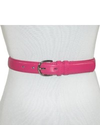CTM Genuine Leather Dress Belt In Fashion Colors By Dark Pink Medium