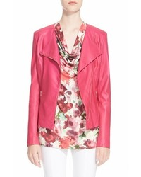 St. John Collection Collection Luxe Nappa Leather Moto Jacket