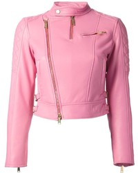 Dsquared2 Lambskin Biker Jacket