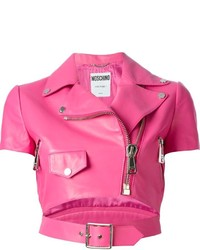 Moschino Cropped Biker Jacket