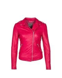 muubaa Carmona Leather Jacket Pink