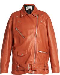 Acne Studios Myrtle Oversized Leather Biker Jacket