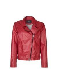 Set Leather Jacket Red