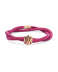 de GRISOGONO Allegra Leather 18 Karat Gold And Sapphire Bracelet