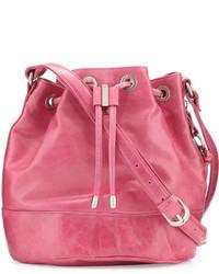 Hobo Tulia Leather Bucket Bag Begonia