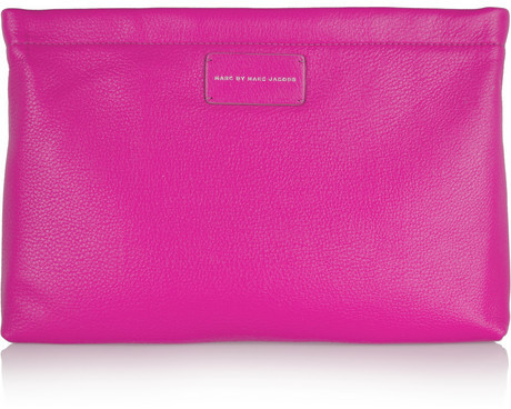 b358cca8a87 ... Pink Leather Clutches Marc by Marc Jacobs Cant Clutch This Textured  Leather Clutch ...