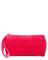 Large velluto matelasse zip pouch pink medium 5169343