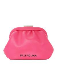 Balenciaga Pink Cloud Coin Purse Clutch