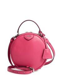 Moschino Calfskin Leather Crossbody Circle Bag