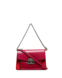 Givenchy Cherry Red Gv3 Leather Shoulder Bag
