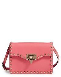 Valentino Garavani Rockstud Leather Crossbody Bag Pink