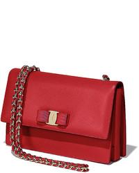6644a814ee ... Salvatore Ferragamo Ginny Vara Medium Crossbody Bag Rosso ...