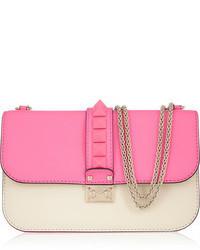 Valentino Glam Lock Studded Leather Shoulder Bag