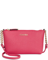 Calvin Klein Hayden Mini Saffiano Leather Crossbody