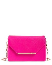 London textured bar faux leather crossbody bag pink medium 4913166