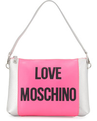 Love Moschino Love Saffiano Faux Leather Shoulder Bag Pink